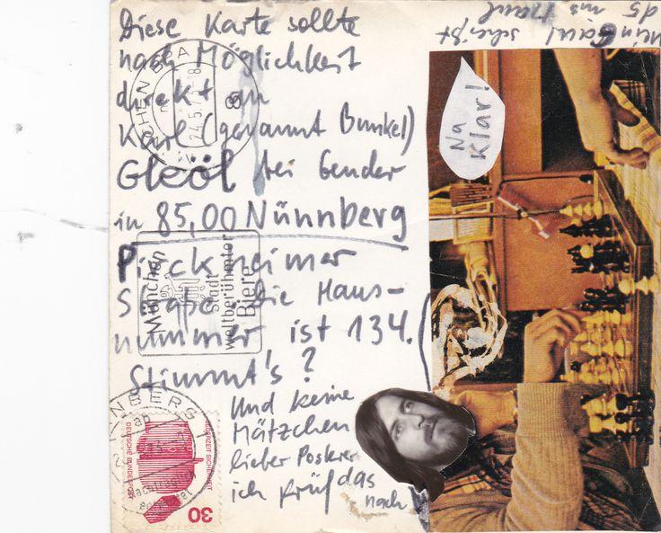 Diese Karte ging nach Nürnberg. Unter dieser Adresse war ich 1973/1974 zu erreichen.