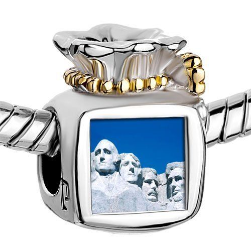 Pugster Two Tone Money Bag Gold Plated Travel Mount Rushmore Photo Heart European Bead Braceletsbeads Fits Pandora Charm Chamilia Biagi Bracelet Pugster. $14.49. Color:. Metal: Two Tone. Size (mm): 9.46*8.73*12.41. Weight (gram): 5.2