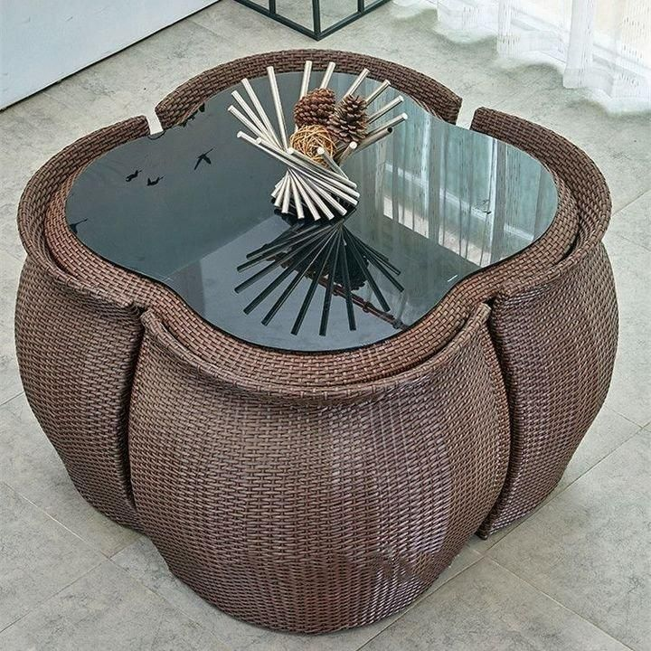 35+ Rattan indoor dining table and chairs Top