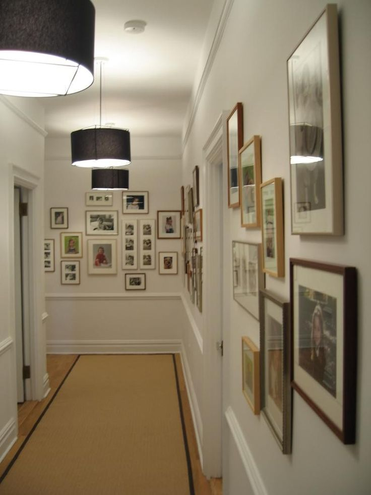 28 best images about gallery hallways on pinterest dark for Hallway decorating ideas