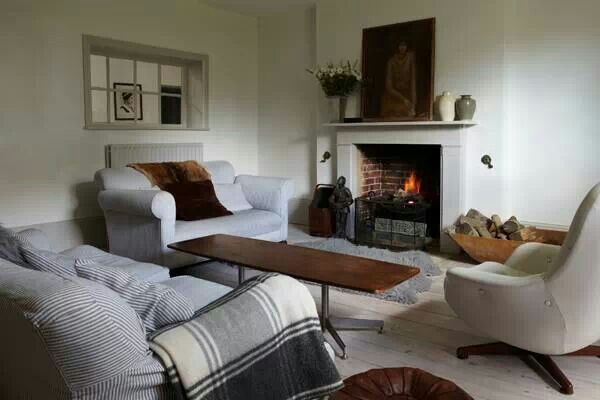 Farrow And Ball Strong White Walls Living Room