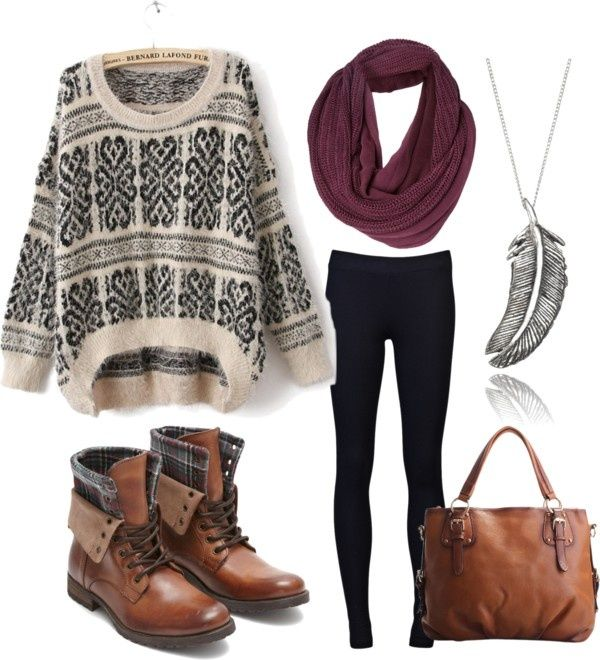 Chunky jumper & winter accessories