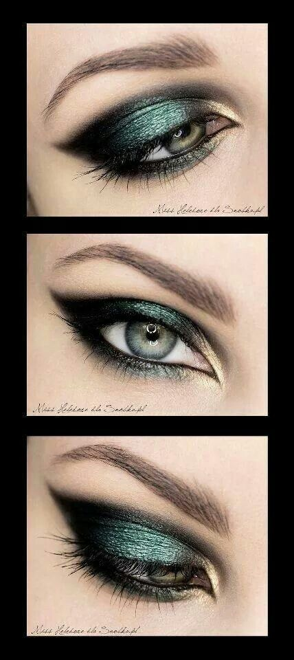 Loving the colors in this eye makeup.