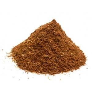 Tandoori : Piment doux + Paprika + Ail + Piment fort + Thym + Coriandre + Cumin + Poivre noir + Sel + Céleri + Carvi + Romarin + Fenugrec + Girofle + Laurier + Cannelle