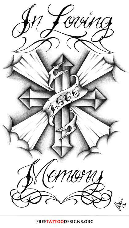 In loving memory tattoo