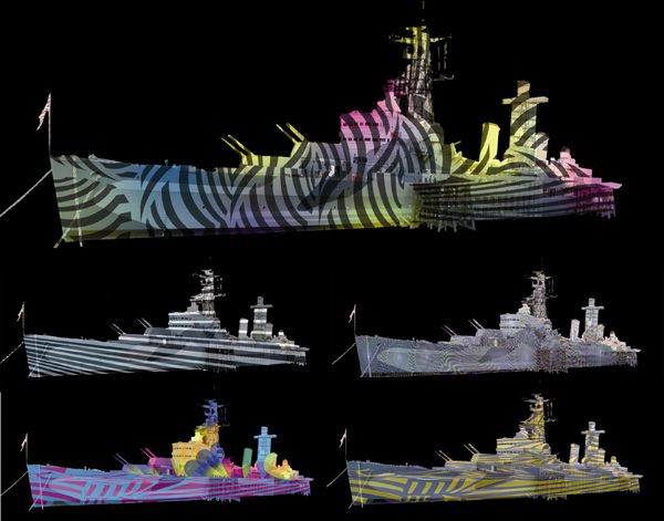Dazzle Pattern Lighting for HMS Belfast