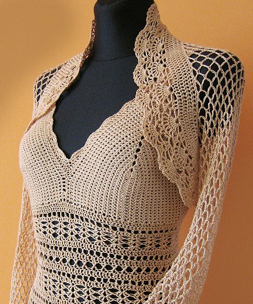 www.polandhandmade.pl, #polandhandmade, #Dress, #CrochetBolero
