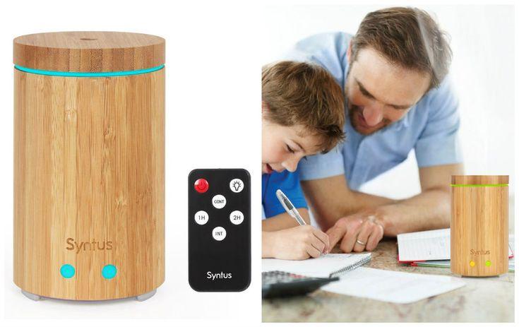 Essential Oil Aroma Diffuser Remote Control Ultrasonic Humidifier Bamboo 160 ML #EssentialOilDiffusers