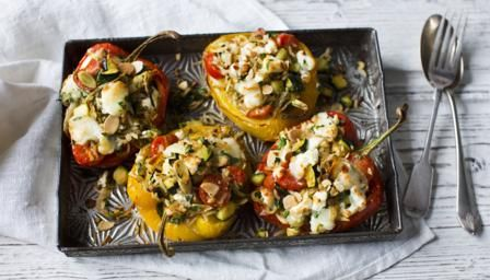 BBC - Food - Recipes : Roasted pepper with goats' cheese