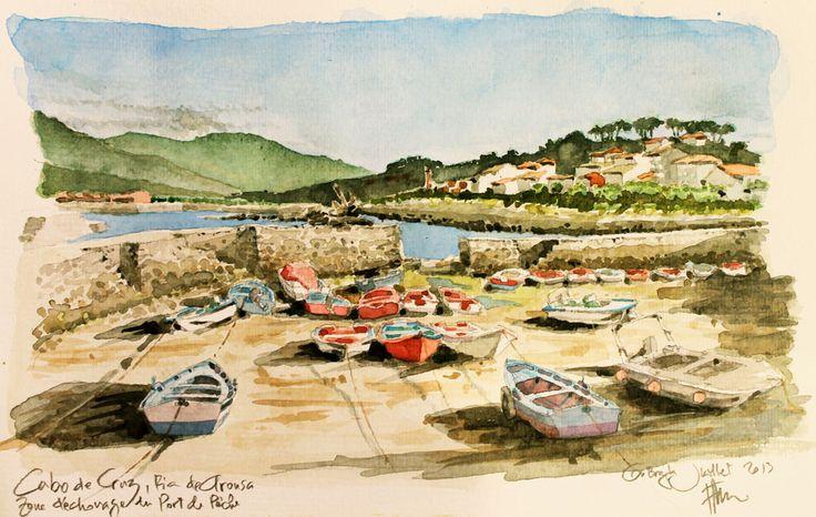 Cabo de Cruz, Ria de Arousa - le port de pêche
