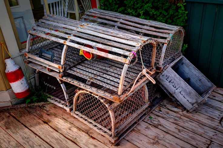 I love the colours in this picture of lobster traps - taken at Avonlea Village, PEI