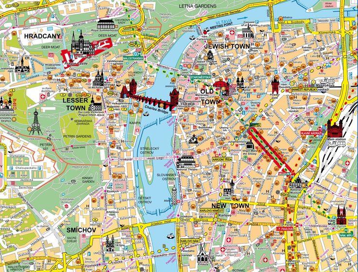 Carte de Prague - Plan de Prague