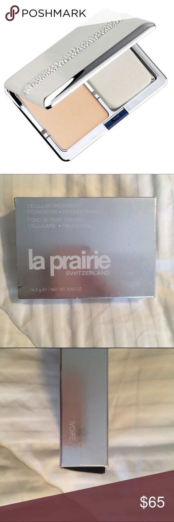 La Prairie Cellular Treatment Foundation Powder New in box, never used. Currently sold on SAKS.com for $95.  Combines cream and powder for a perfect silky matte compact foundation. 0.50 oz No ❌ Trades. La Prairie Makeup Face Powder