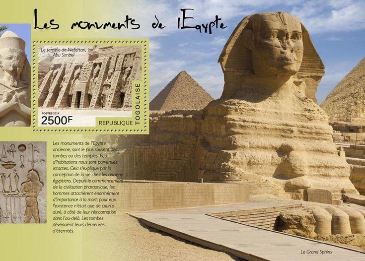 TG 14514 bEgyptian monuments (The temple of Nefertari, Abu Simbel, The Grand Sphinx)