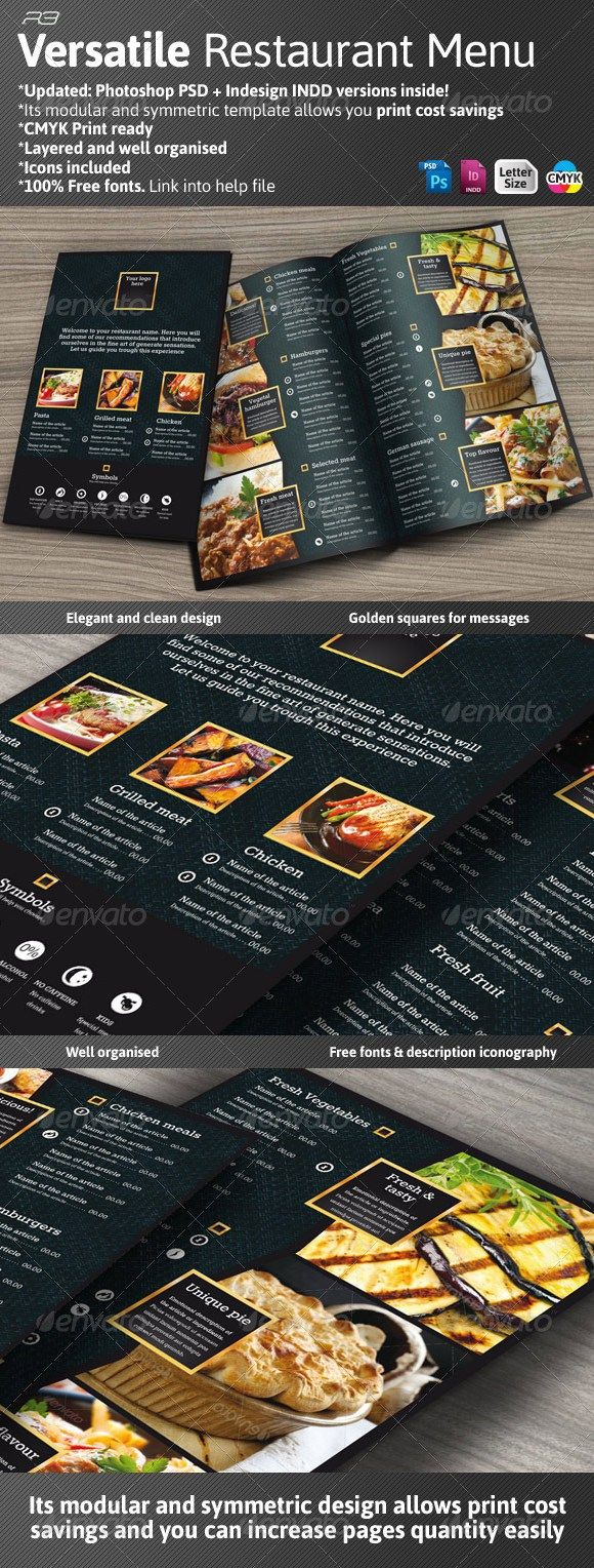 Black and Gold Menu Template