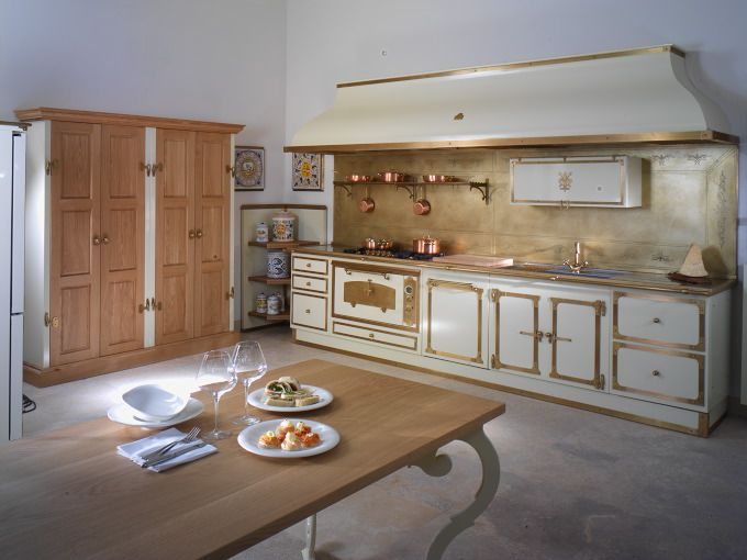 Restart Florence Kitchens Kitchens Made in Italy Metal kitchens and accessories Range Cooker Taps Copper Hoods Copper Hoods Stainless