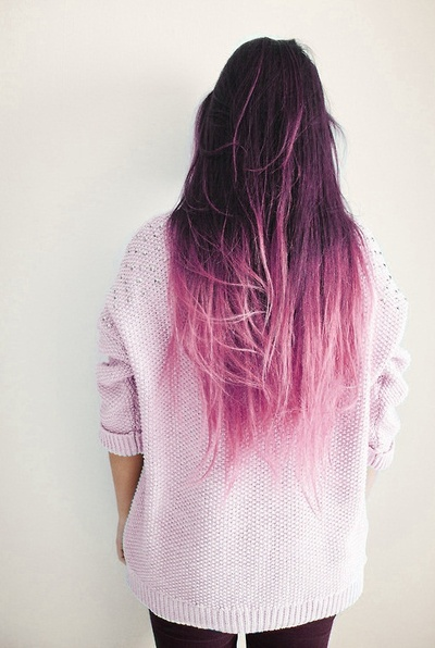 Love this hair color. Ombré pink