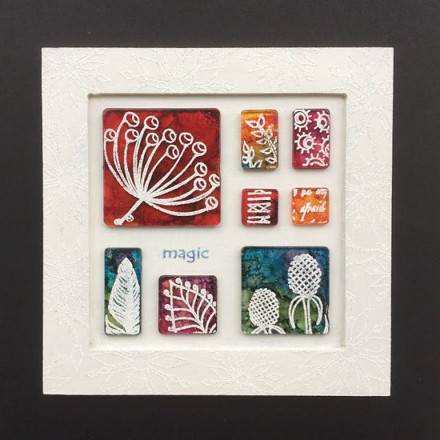 PaperArtsy: 2016 #22 Tiled Frame {by Ruth Mescall}
