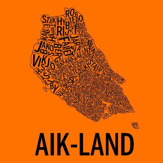 AIK-land i färgen orange