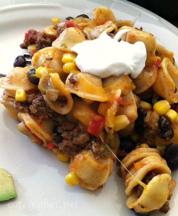 easy one pan Tex Mex Orecchietta Pasta ~ dinner in less ...
