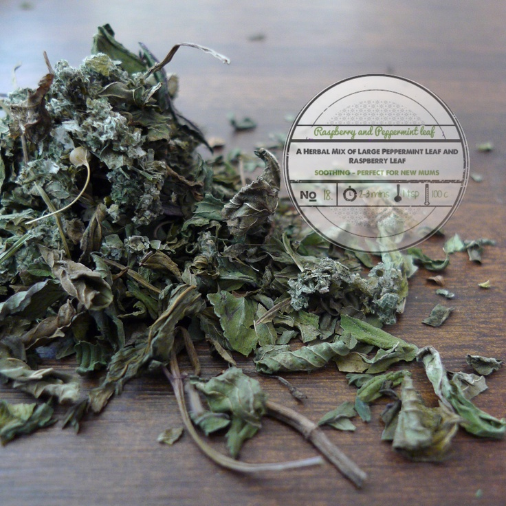 Raspberry and Peppermint Leaf by   T totaler:  A Herbal and Soothing Mix of Large Peppermint and Raspberry Leaf