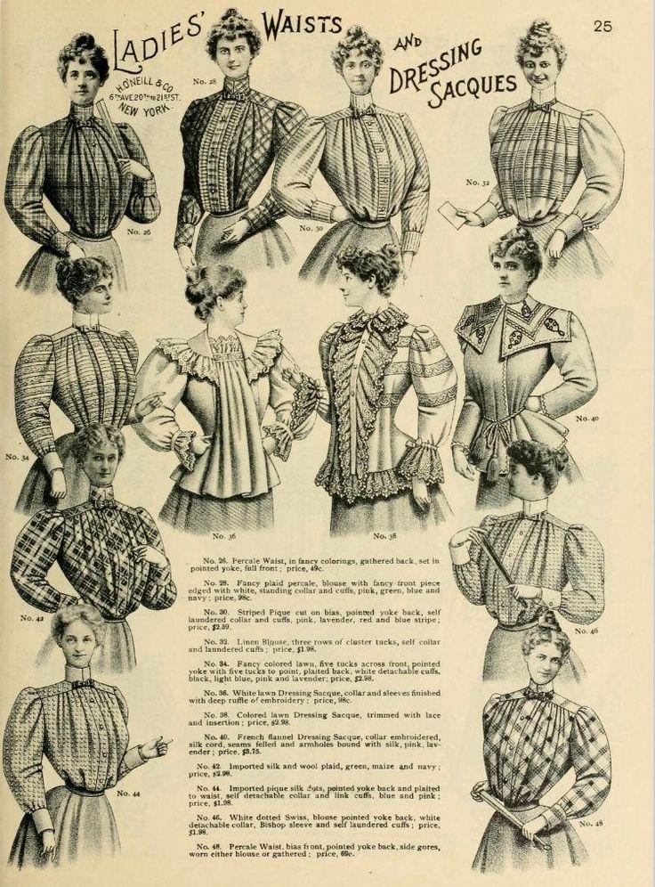 1898 Vintage Fashion O Neills Catalogue No 25 Vintage Fashion Fashion Illustration Vintage Fashion Catalogue