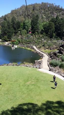 A view from the chair lift. Cataract Gorge Tasmania