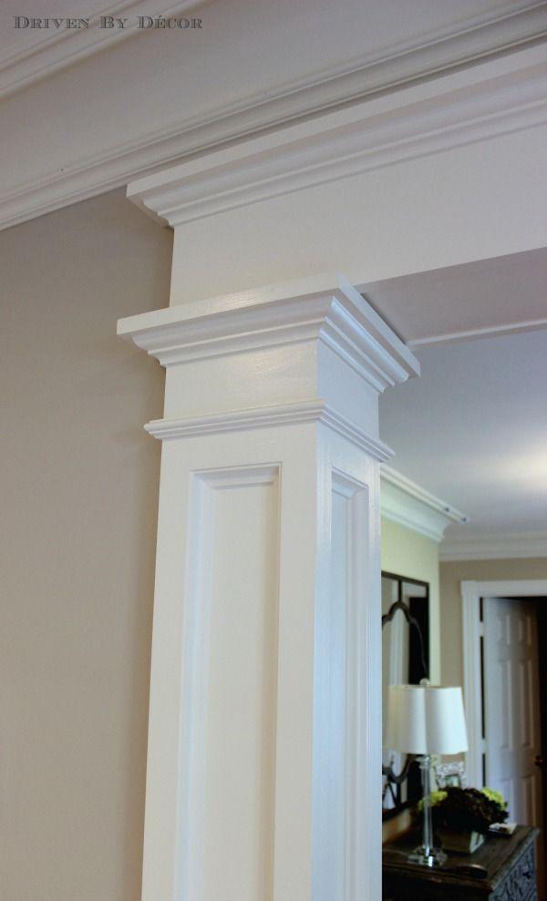 Foyer Door Opener : A foyer quot before and after door opener moldings