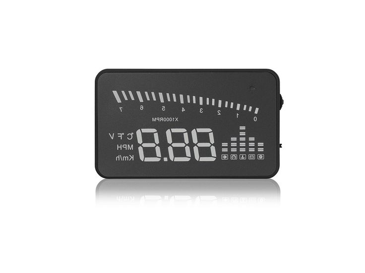 "Arpenkin X5 HUD 3"" Universal Multi-function Vehicle-mounted Heads up Display for Cars Windshield Compatible with OBD II EOBD System Model Cars. Compatible with OBDii, EOBD system and OND2 agreement cars, America and Europe cars after 2004 year, Asia cars after 2007 year, not compatible with truck. 3 Inch LCD display is portable and easy for drivers to read data, detect all important driving informations via the OBD 2 system. KM and MPH switch freely, Normal Auto power on and off with…"