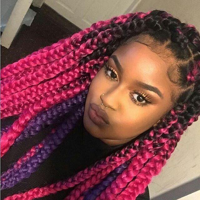 25 best ideas about purple box braids on pinterest
