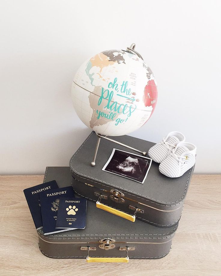 Our travel themed pregnancy announcement.