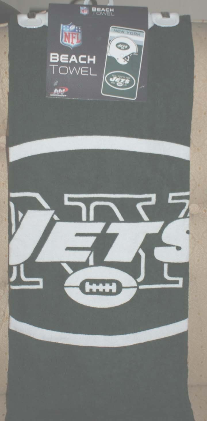 New York NFL Jets Team Beach Towel 100% Cotton Free Shipping Football NEW