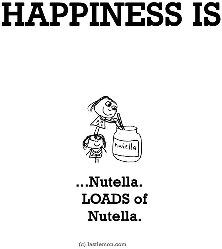 """Happiness is...nutella"" via www.LastLemon.com"