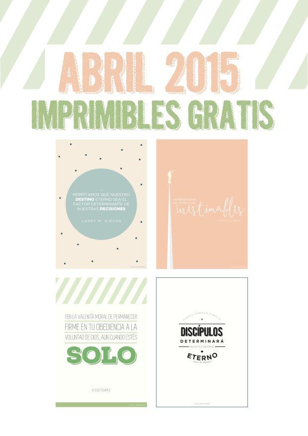LDS GC FREE PRINTABLES! APRIL 2015 | #lovely #designed #free #printables #lds #april #april2015 #2015 #español #imprimibles #spanish