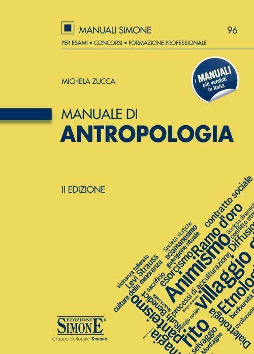 Libro Manuale di antropologia Michela Zucca