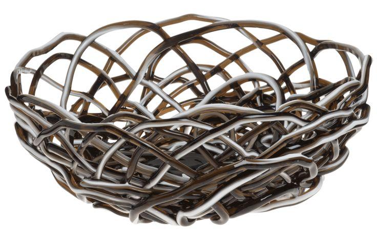 Basket in soft resin, Tutti Frutti II model, designed by Gaetano Pesce in 1995 for the collection Fish Design. Unique piece. Size Medium (ø 11,8 in x H. 5,5 in) #design #fishdesign #corsidesign