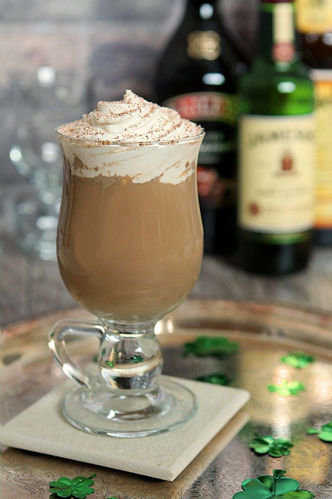 The Nutty Irishman Cocktail with Baileys Irish Cream Liqueur, Jameson Irish Whiskey and a hint of Frangelico.
