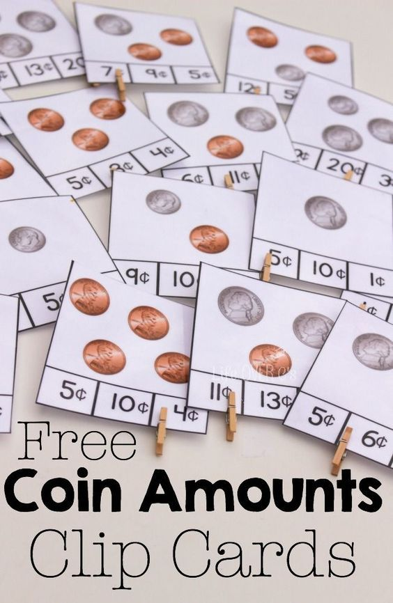 Free Counting Money Clip Cards for Coins.  Perfect activity for our students with special learning needs.  Nice addition with the fine motor practice.  Get this FREE resource at:  http://lifeovercs.com/free-counting-money-clip-cards-coins/