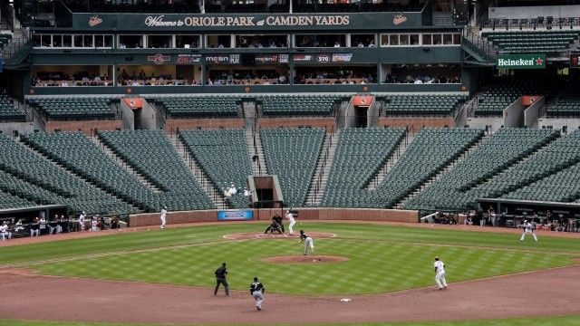 Baltimore Orioles play Chicago White Sox at empty stadium – video | US news | The Guardian