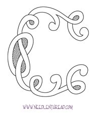 Monogram for Hand Embroidery: Celtic C