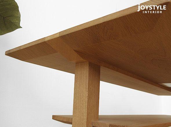 joystyle-interior | Rakuten Global Market: Choose material custom-order table oak wood oak natural wood wooden cofee table storage with shelves of Center tables living tables SPOKE-LT Internet shop limited original settings * material depending on amount!