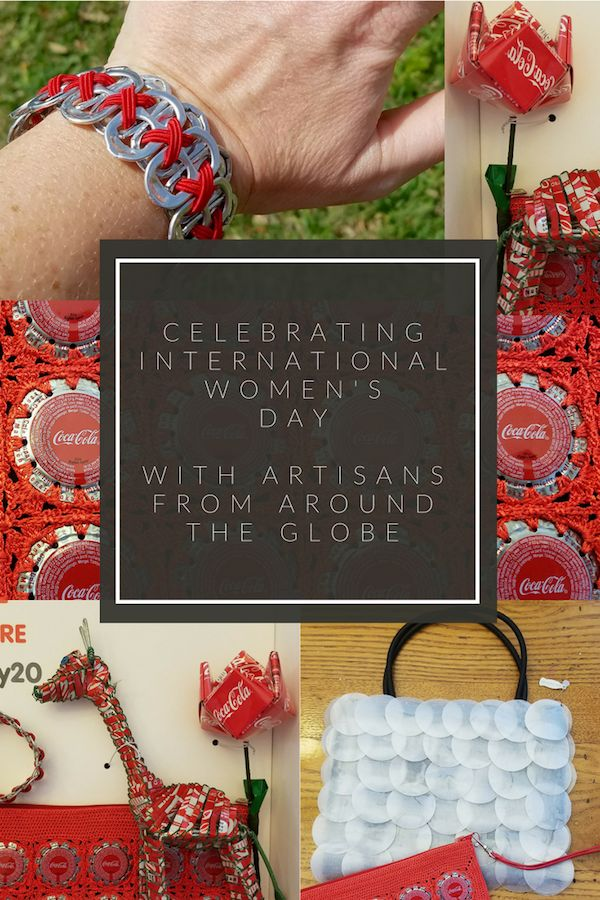 International Women's Day: Entrepreneurs in Developing Countries made these crafts from recycled coke products!