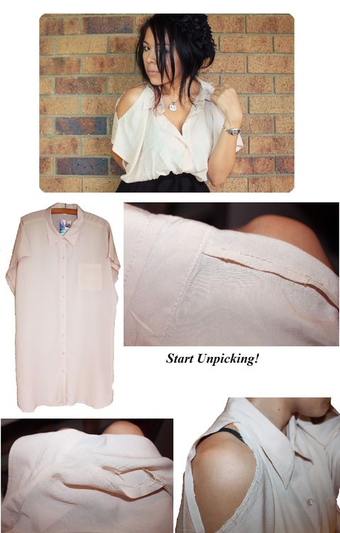#cut blouse  #DIY #Diy clothing #top