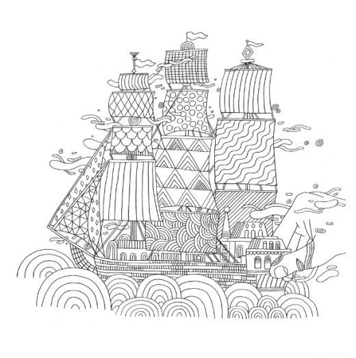 Gulliver's New Travels Colouring In Page