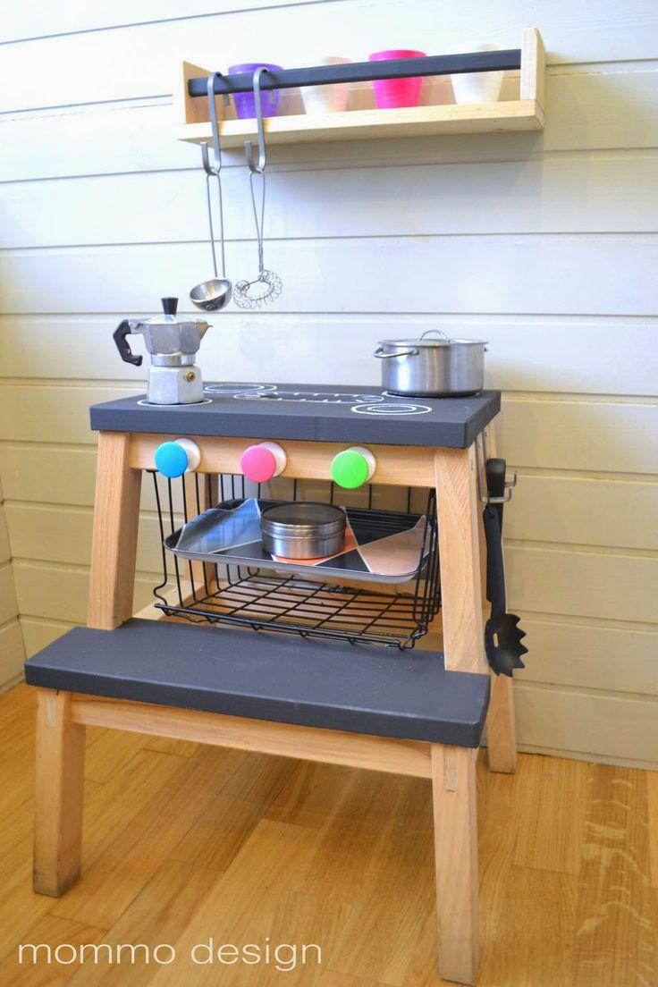 Ikea Bekvam stool hack – Aus dem kleinen Hocker von Ikea wird eine Spielküche für Kinder