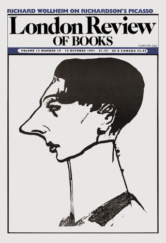 London Review of Books. 10 October 1991. Cover: Pablo Picasso.