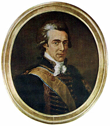 Lt. General Count Hans Axel von Fersen  was a Swedish Count, diplomat and statesman. He is famous in history as the alleged lover of Queen Ma Antoinette of France. The Queen had 1st met Fersen when they both were age 18 & was especially attracted by his grace & wit.  When Sweden's Gustav III's war with Russia broke out, in 1788, Fersen accompanied his king as an adjutant to Finland, but in the autumn of the same year returned to France, where the political horizon was already darkening.