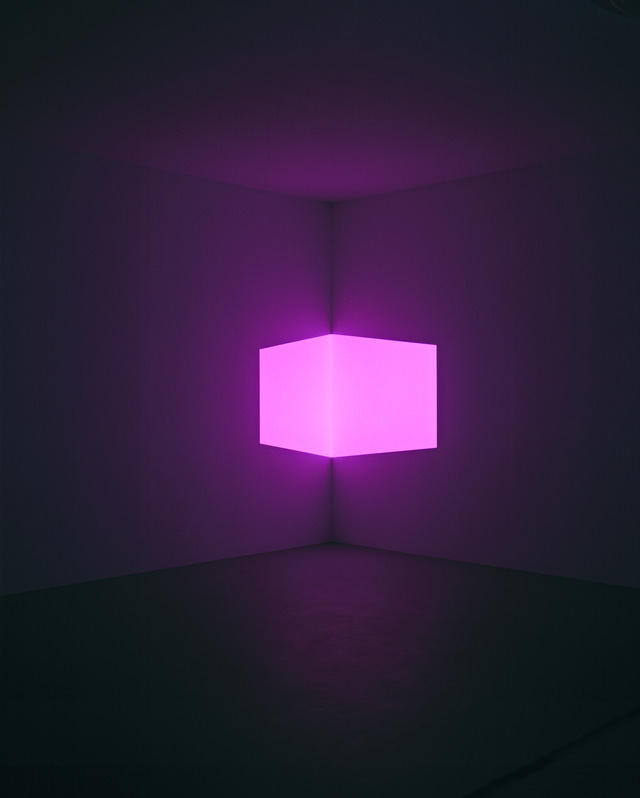 James Turrell - Afrum, Pale Pink projection, installation dimensions variable, 1968, © James Turrell, courtesy Pace Gallery / Photo by: Florian Holzherr