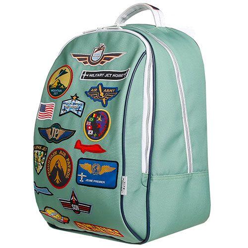 Tassen, koffers en zo-grote hippe rugzak James-aeronautics-Jeune Premier-9992-Op zoek naar een stijlvolle rugzak? Dan is dit exemplaar van het Belgische Jeune Premier met coole aeronautics badges zeker iets voor jou! De rugzakken van