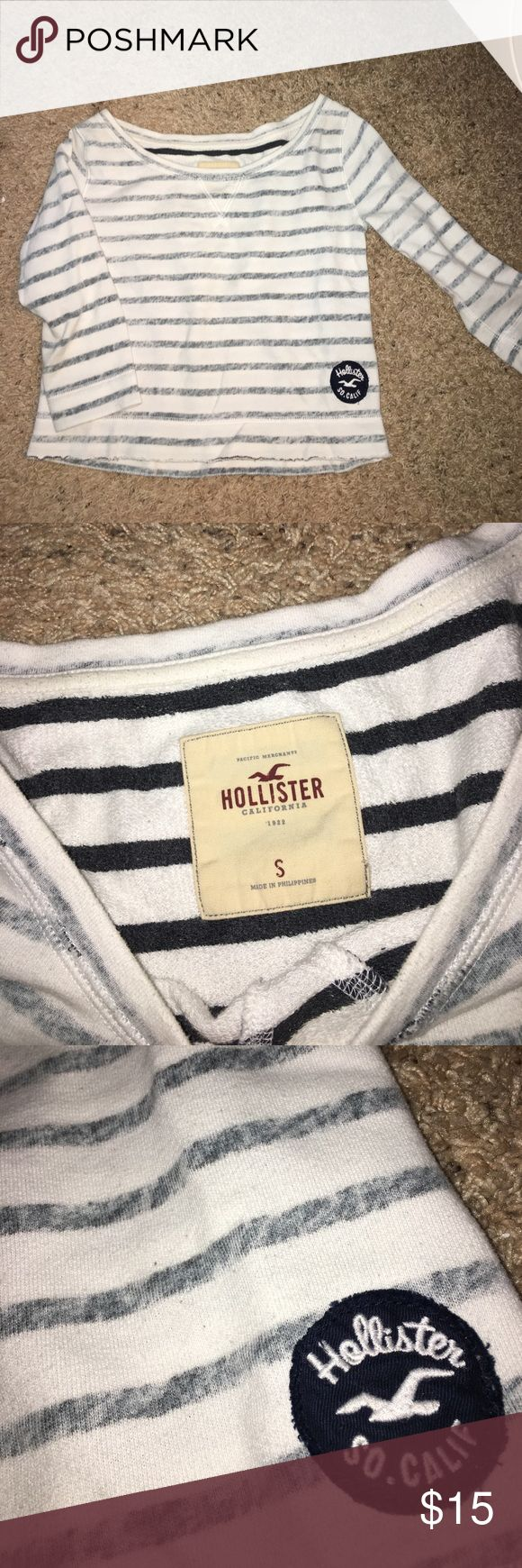 Spotted while shopping on Poshmark: Hollister crew sweatshirt! #poshmark #fashion #shopping #style #Hollister #Tops